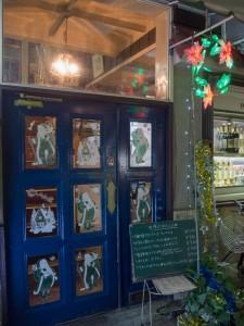 ロージナ茶房入口 クリスマス仕様