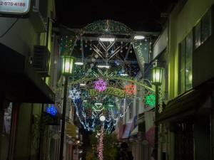 ロージナ茶房 ブランコ通りのクリスマスイルミネーション