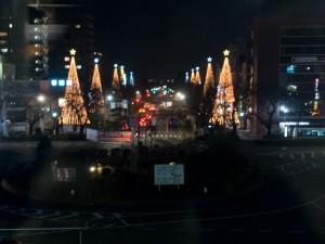 ロージナ茶房 国立駅から見たクリスマスイルミネーション